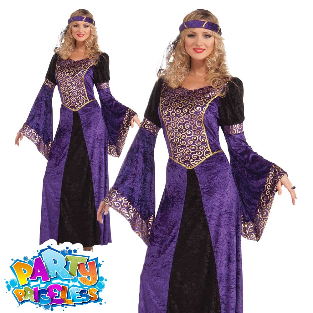 Maid Marion Costume Womens Ladies Fair Maiden Robin Hood Fancy Dress Outfit