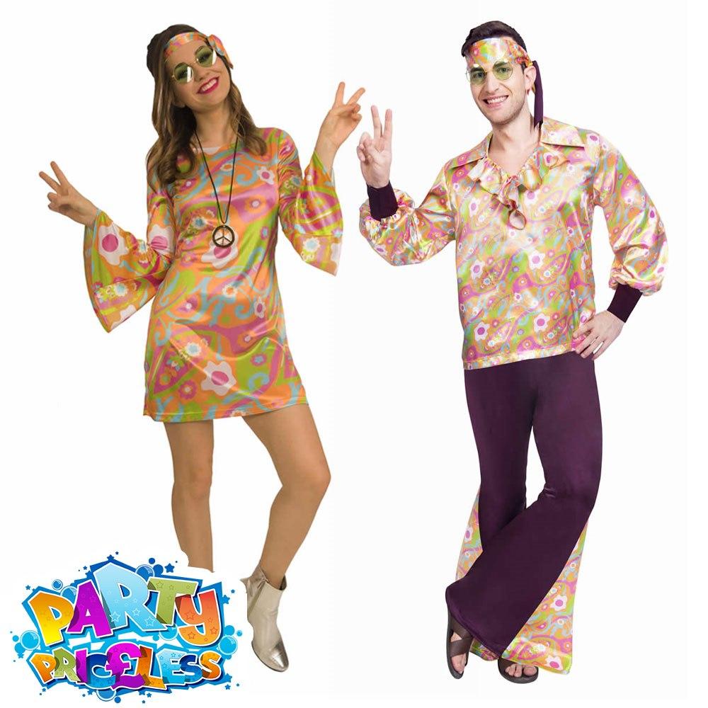 1960s Feeling Groovy Hippie Fancy Dress Bead Necklace by Amscan