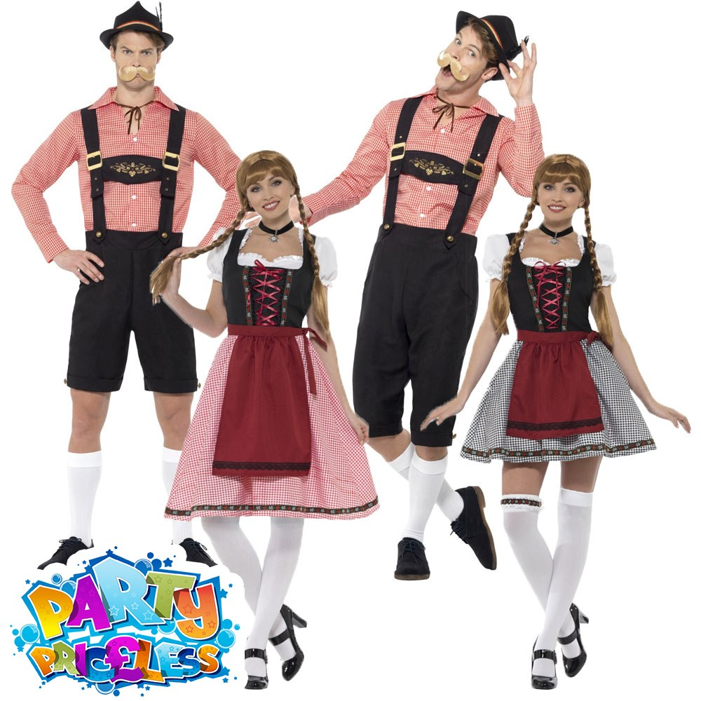 e97a47e6aa7 Details about Adults Oktoberfest Costume Mens Ladies Bavarian Fancy Dress  Beer Fest Outfit