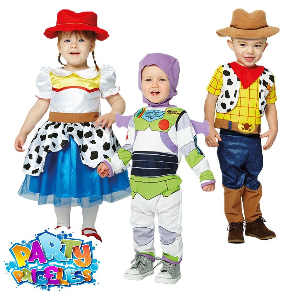 Details about Boys Girls Disney Toy Story Costume Buzz Woody Jessie Travis Childs Fancy Dress