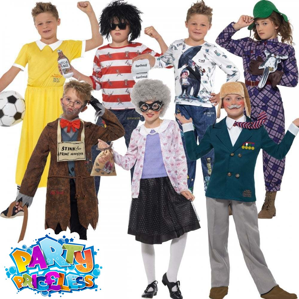 Girls Gangsta Granny Costume Book Week David Walliams Kids Deluxe Fancy Dress