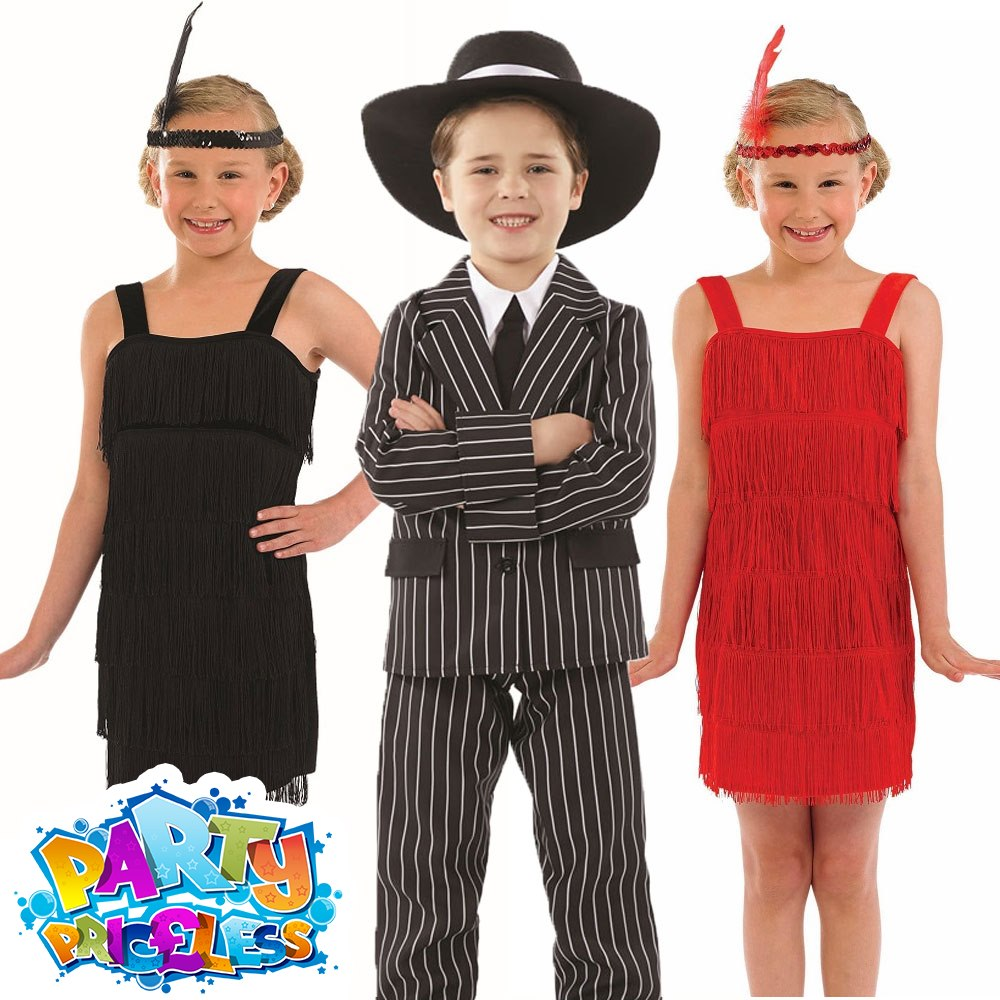 CHILD GANGSTER HAT BOYS 1920S FANCY DRESS COSTUME ACCESSORY MAFIA BLACK OR WHITE