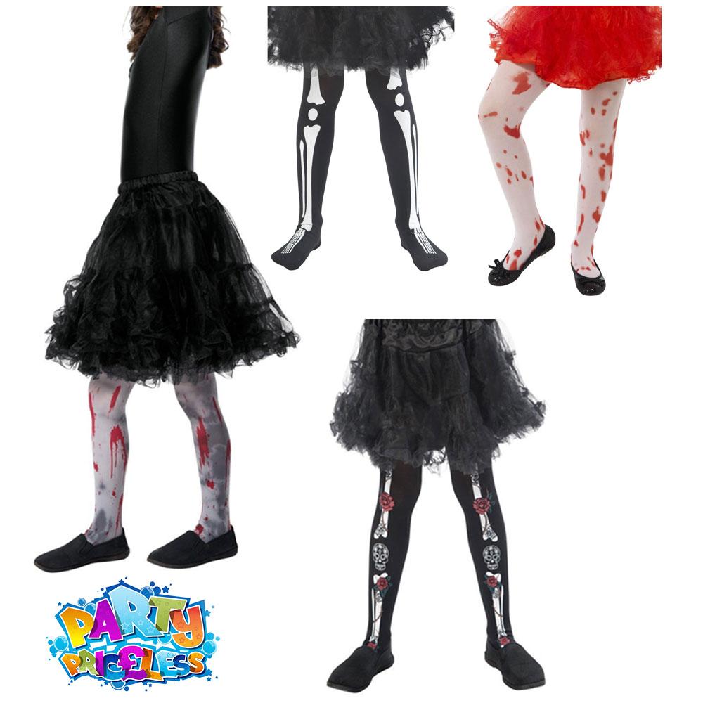 Blood Splatter Child Stockings Black Disguise