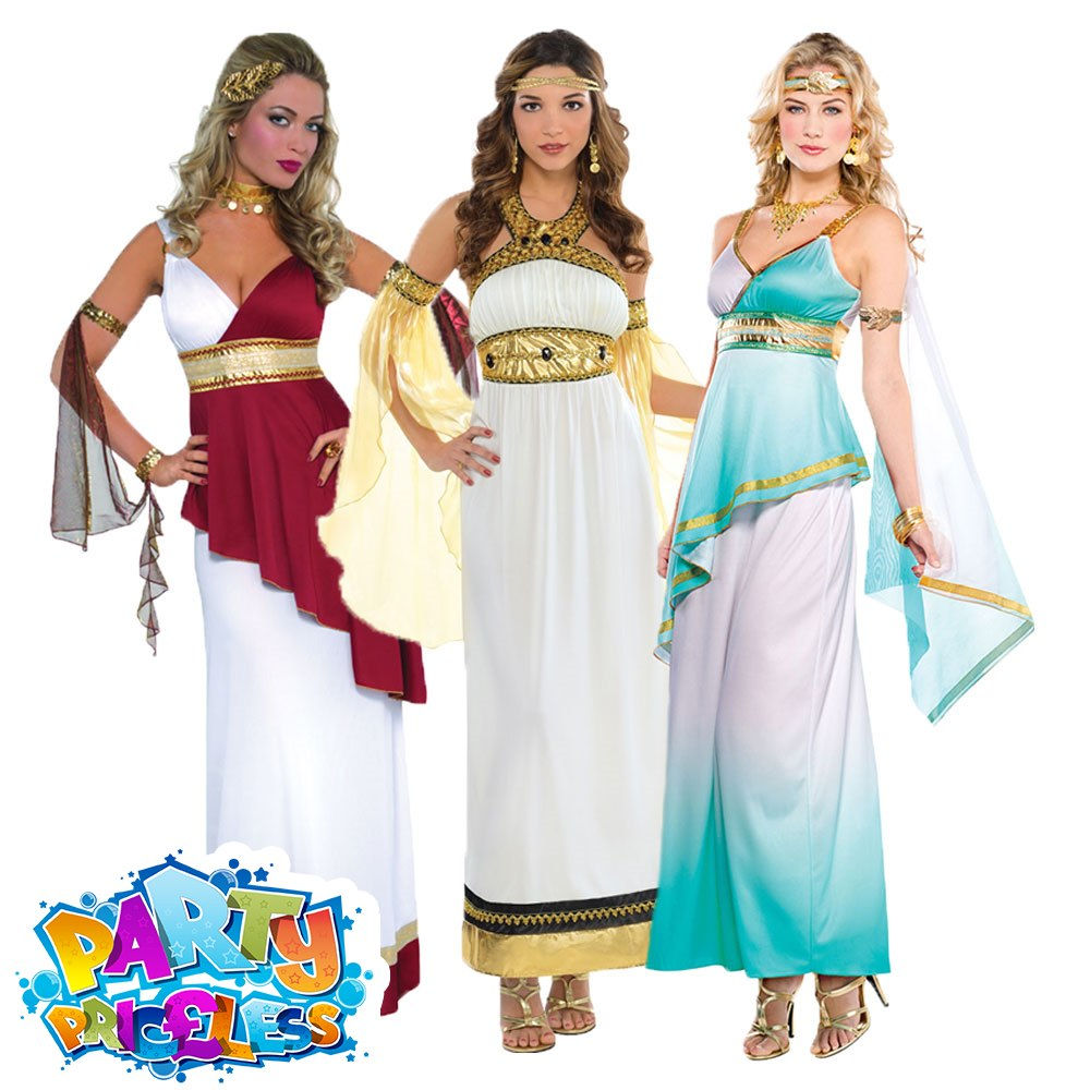 Roman Empress Ladies Fancy Dress Ancient Greek Grecian Womens Adults Costume New
