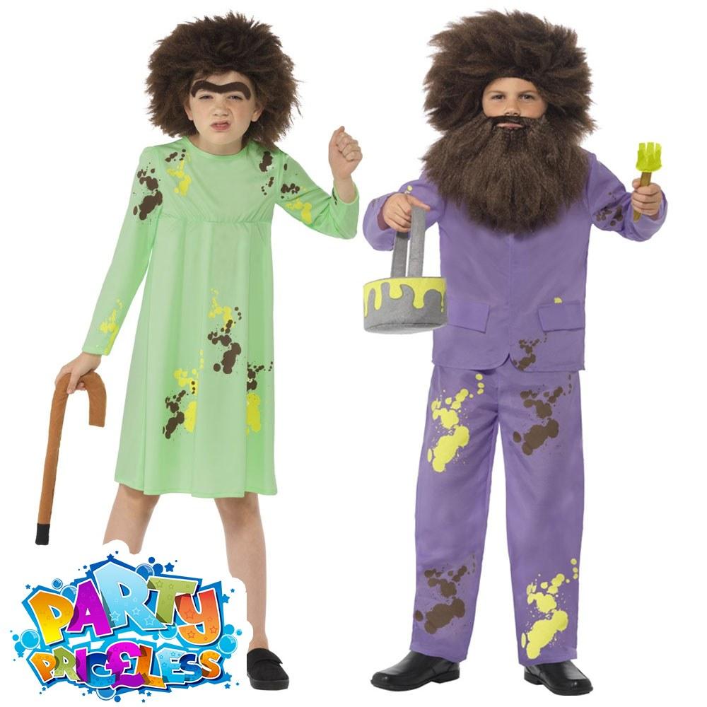 Child Roald Dahl Mr Twit Costume Book Week Day Boys Fancy Dress Outfit Kids