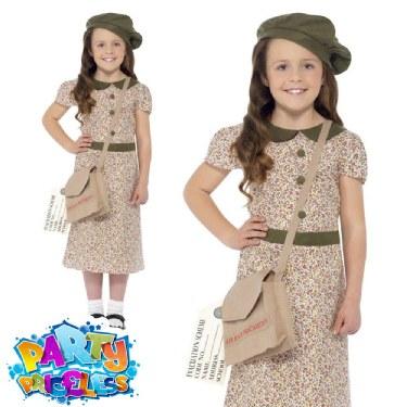 Childs Evacuee Girl Costume